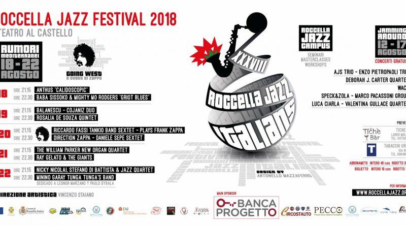 Roccella Jazz Festival 2018 Rumori Mediterraneo XXXVIII edizione