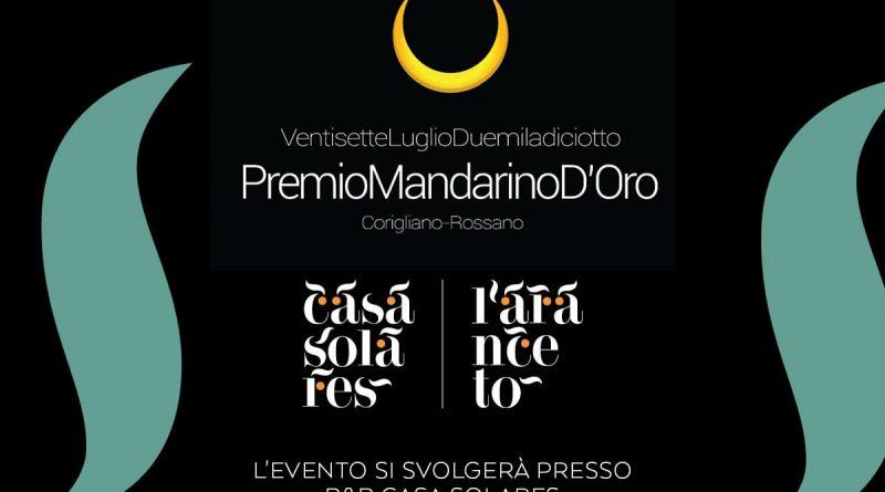 Il 27 luglio a Rossano il Premio Mandarino d'oro