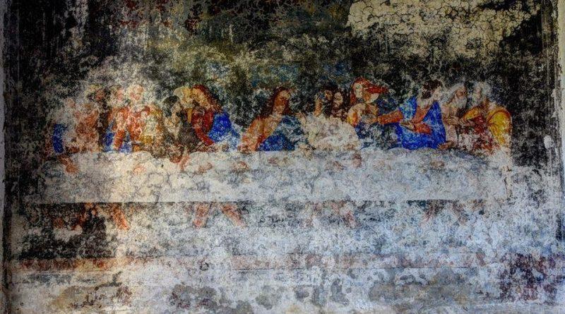 """Affresco de """"L'ultima cena"""" rinvenuto nel convento dei Capuccini di Saracena (CS)"""